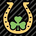 horseshoe, shamrock, clover, leaf, lucky