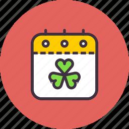 calendar, day, event, festival, patricks, saint, shamrock icon