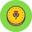 fortune, gold, patricks, saint, coin, day, luck icon