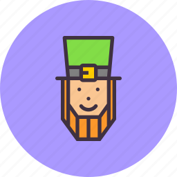 character, hat, irish, leprechaun, lucky, patricks, saint icon
