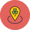 festival, location, marker, patricks, pin, saint, spot icon