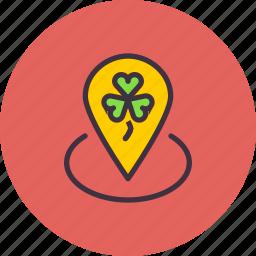 festival, location, marker, patricks, pin, saint, spot icon