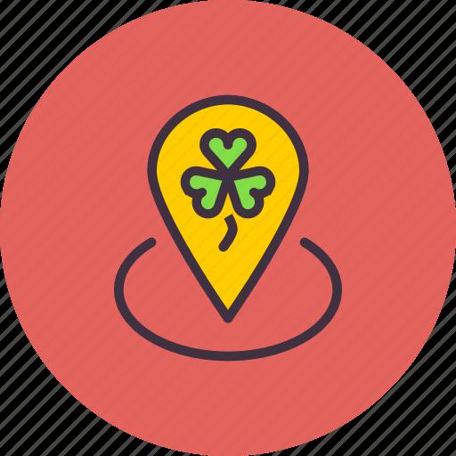 Festival, location, marker, patricks, saint, spot, pin icon - Download on Iconfinder