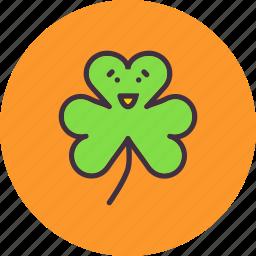 clover, festival, leaf, patricks, saint, shamrock, three icon