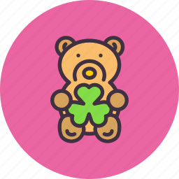 bear, gift, patricks, saint, shamrock, teddy, toy icon
