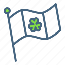 day, festival, flag, irish, patricks, saint, shamrock icon