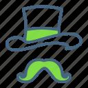 day, hat, irish, leprechaun, moustache, patricks, saint