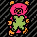 bear, day, gift, patricks, saint, shamrock, teddy