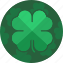 clover, four, leaf, leaves, luck, saint patrick, stpatricksday icon