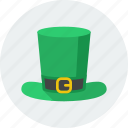 green, hat, irish, leprechaun, saint patrick, st patrick, stpatricksday icon