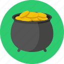 gold, pot, pot of gold, saint patrick, st patrick's day, stpatricksday icon