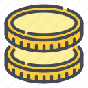 cash, coin, coins, currency, dollar, finance, money icon