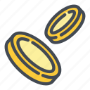 cash, coin, currency, dollar, drop, fall, money icon