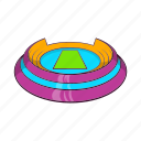 arena, cartoon, round, sport, sports, stadium, team icon