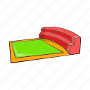 arena, cartoon, field, small, sport, square, stadium icon
