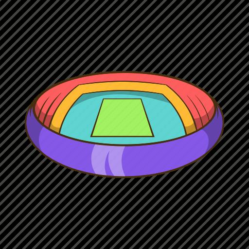cartoon, field, round, sign, sport, stadium icon