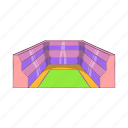 arena, cartoon, field, rectangular, sign, sport, stadium icon