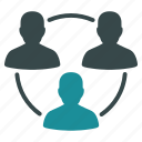 communication, conference, connection, meeting, people group, social media, team work icon
