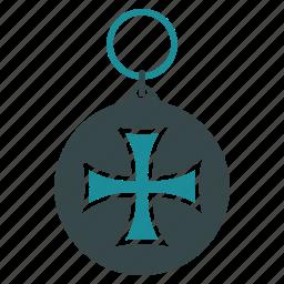 achievement, award, badge, cross, medal, reward, trophy icon