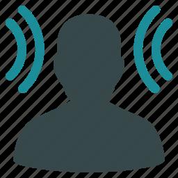 audio, hear, listen, message, profile, recipient, user icon