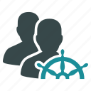 business, control, leadership, management, rule, steering wheel, strategy icon