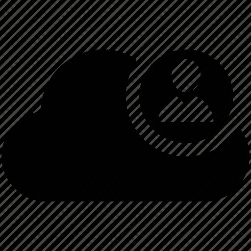 client, cloud network, cloud person, internet, user, web user icon
