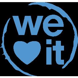 media, social, weheartit icon
