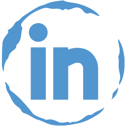 linkedin, social, stamp icon