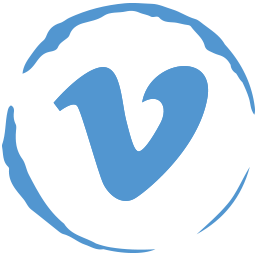 social, stamp, vimeo icon