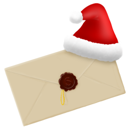 christmas, email, letter, message, new, year icon