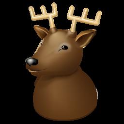 christmas, deer, new, reindeer, rudolf, rudolph, x-mas, year icon