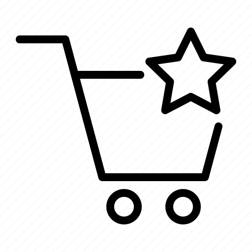 cart, shop, star, store icon
