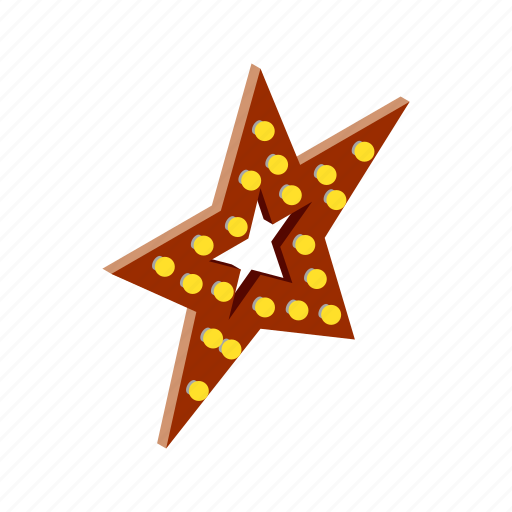 award, bright, bulb, gold, isometric, light, star icon