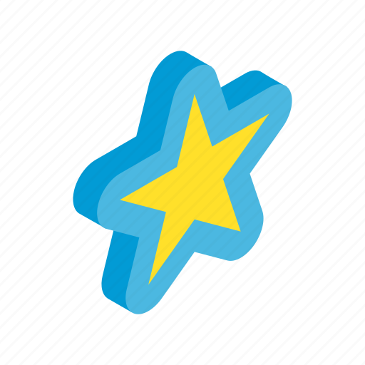award, belement, bright, gold, isometric, shape, star icon