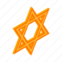 david, isometric, israel, jewish, judaism, religion, star icon