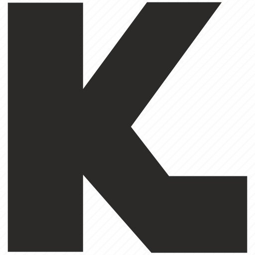 eng, font, k, latin, letter, star, wars icon