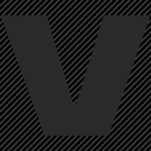 eng, font, latin, letter, star, v, wars icon