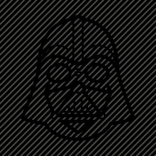 dark side, darth vader, helmet, skywalker, star wars, starwars icon