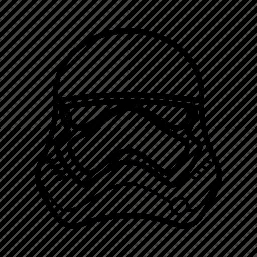 dark side, helmet, star wars, starwars, stormtrooper, the force awakens icon