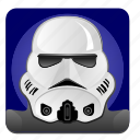 darkness, droid, hero, soldier, star, starwars, wars icon