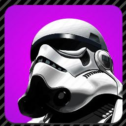 darkness, droid, head, soldier, star, starwars, wars icon