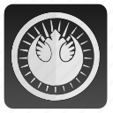 confederation, label, round, star, starwars, wars icon