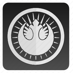 confederation, label, round, star, starwars, wars icon