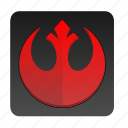 red, sign, star, starwars, wars icon