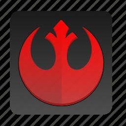 red, sign, star, starwars, wars icon