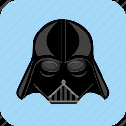 dart, helmet, hero, star, wars, weider icon