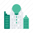 building, business, city, innovation, start, startup, up icon