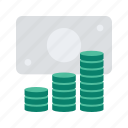 business, cash, coin, dollar, finance, start, up icon
