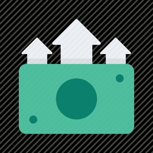 business, cash, finance, money, start, startup, up icon