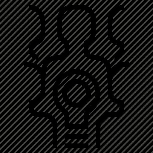 brainstom, criticalthink, ideateam, teamwork icon